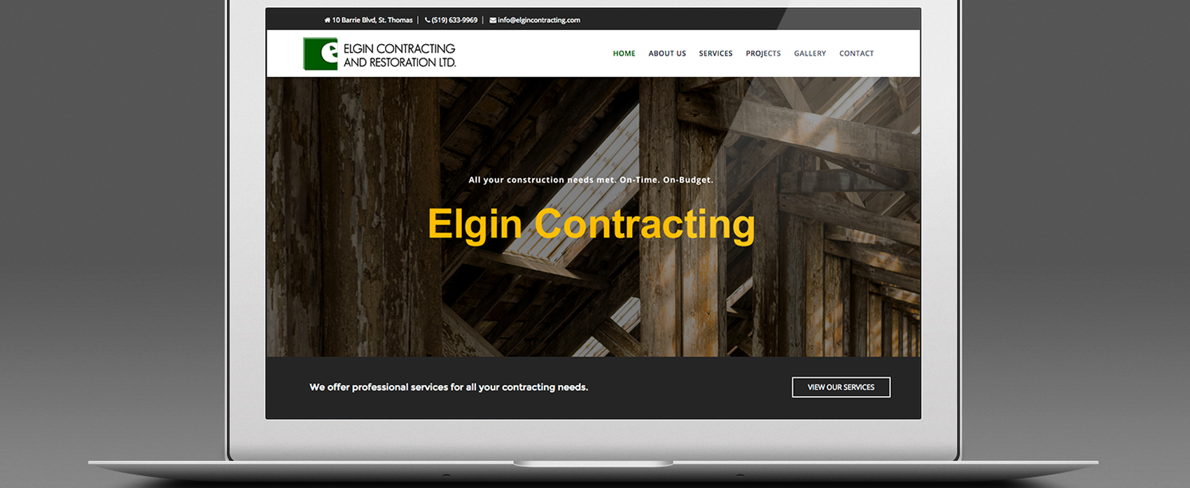 Elgin Contracting Mockup